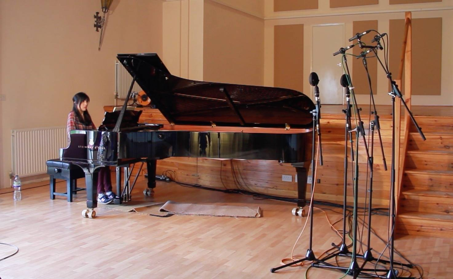 Recording the Field Nocturnes at Potton Hall in Suffolk (photo credit: Decca Classics)