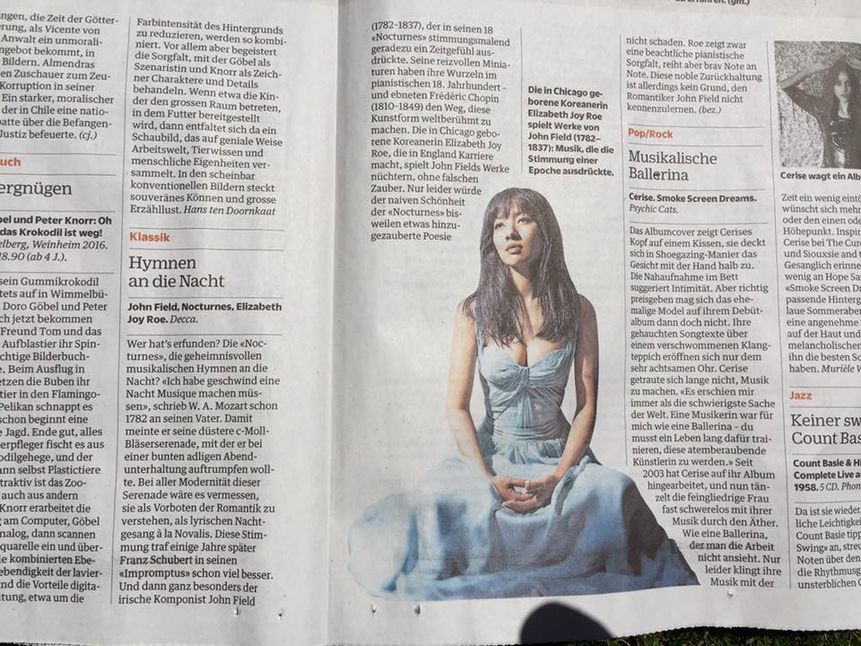 Review in NZZ am Sonntag (Zürich)