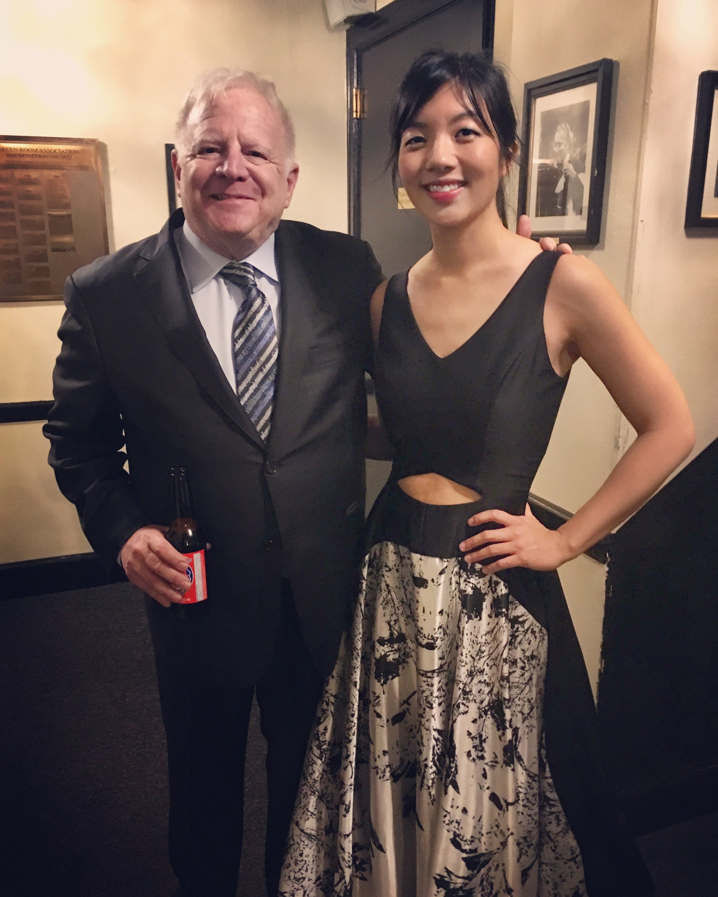 Legendary conductor Leonard Slatkin & pianist Elizabeth Joy Roe backstage at Powell Hall