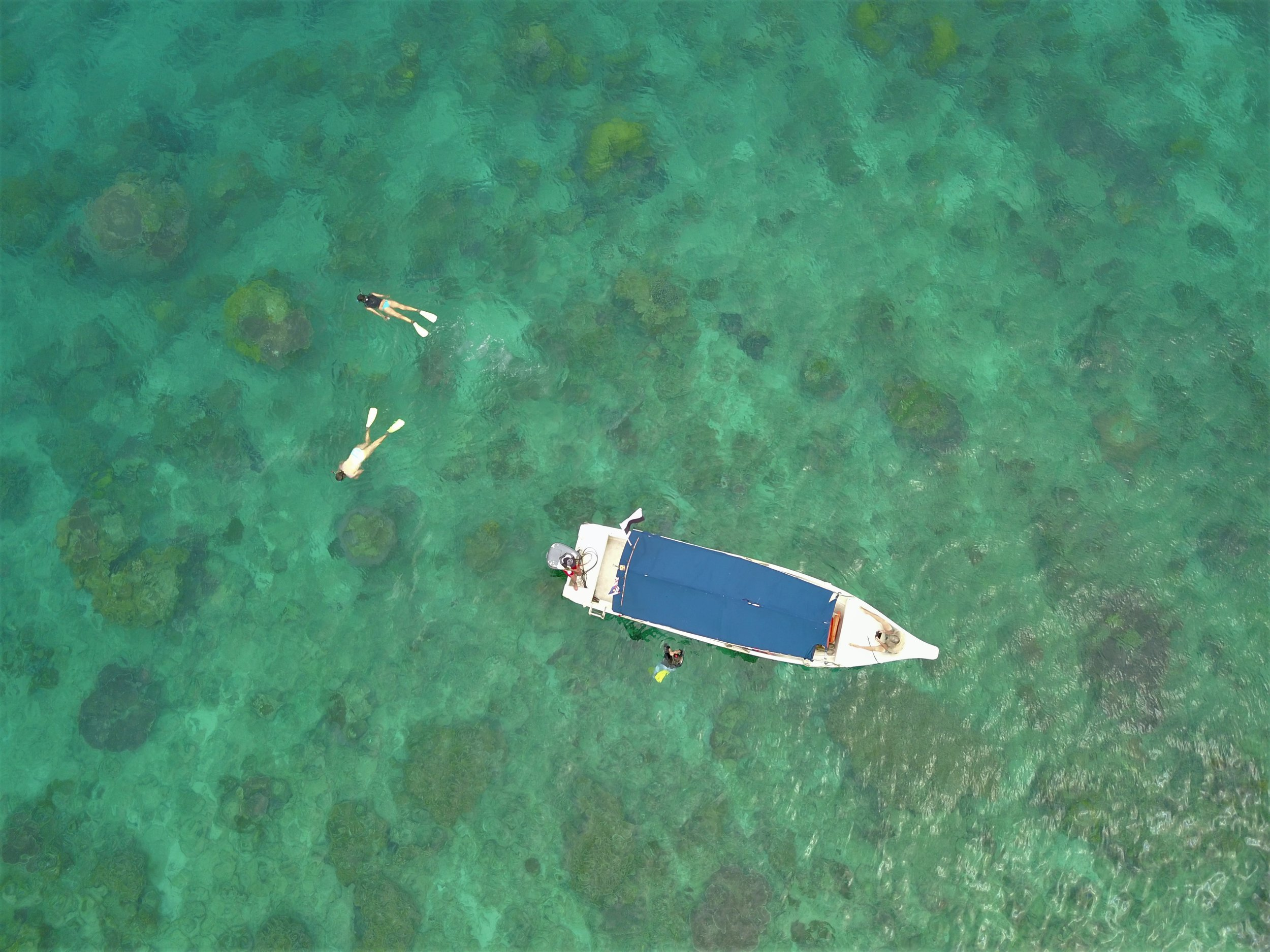 Snorkeling at nearby Tomok Island
