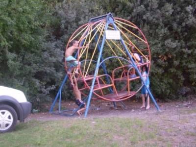 some of the kids having fun