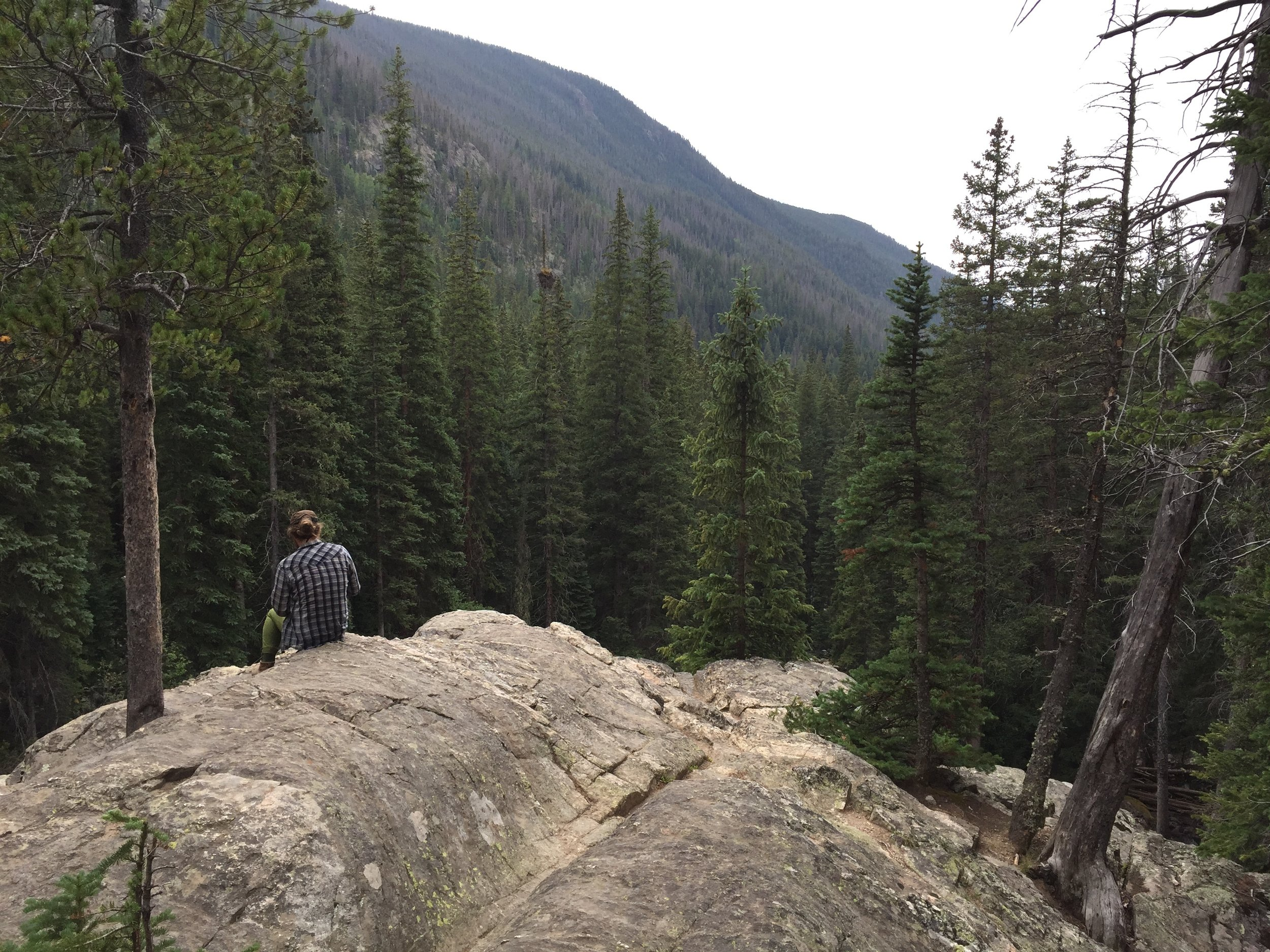 Hiking in Eses Park, Colorado in July