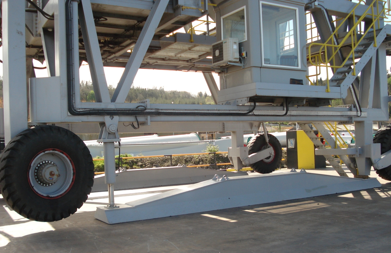 Hopper mobile ship unloader self-driving dust control Eco-hopper