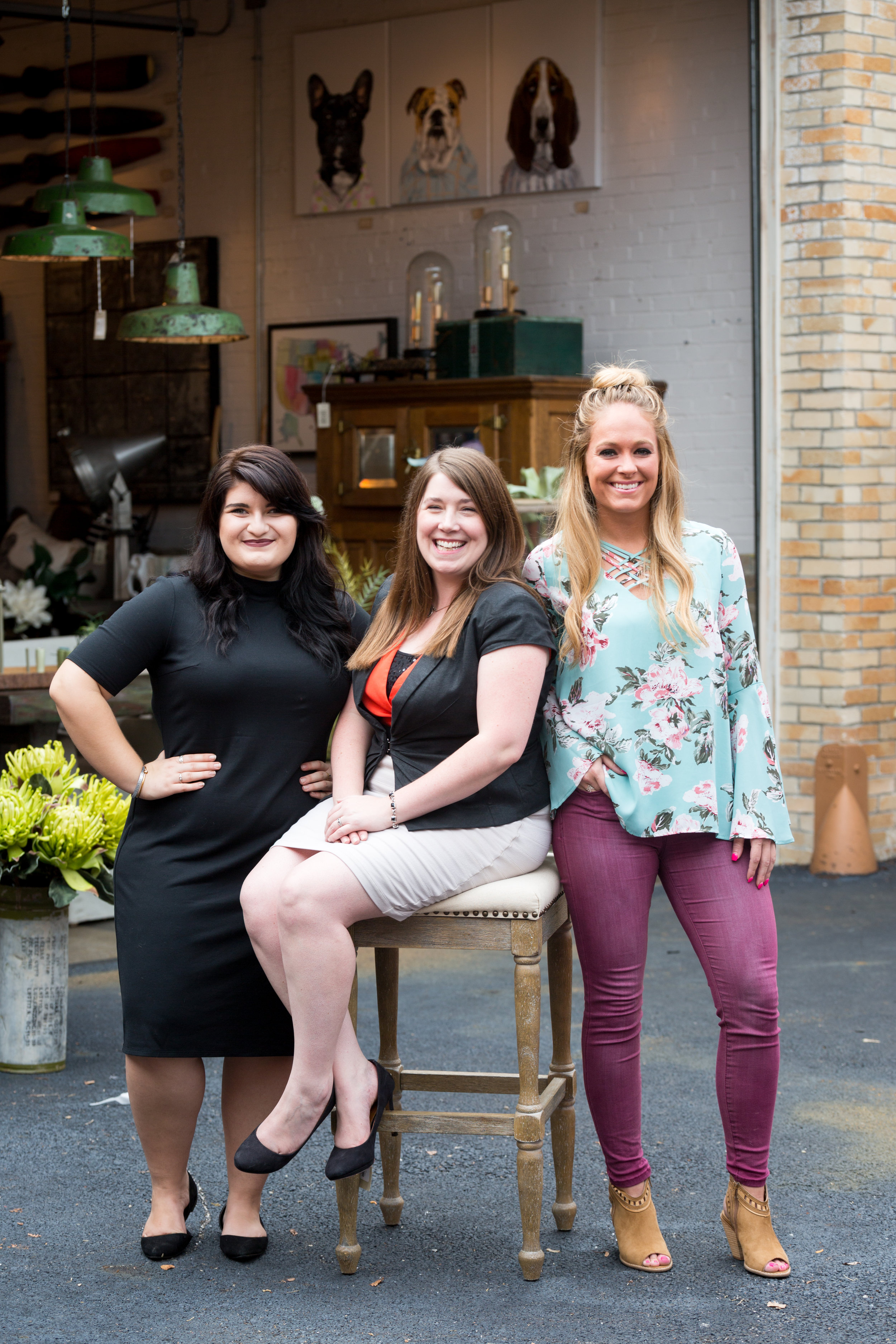 (left) Shell Sindle, Sales Associate ,Emily LaVoy, Store Manager, Shanley O'Neil, Sales Associate