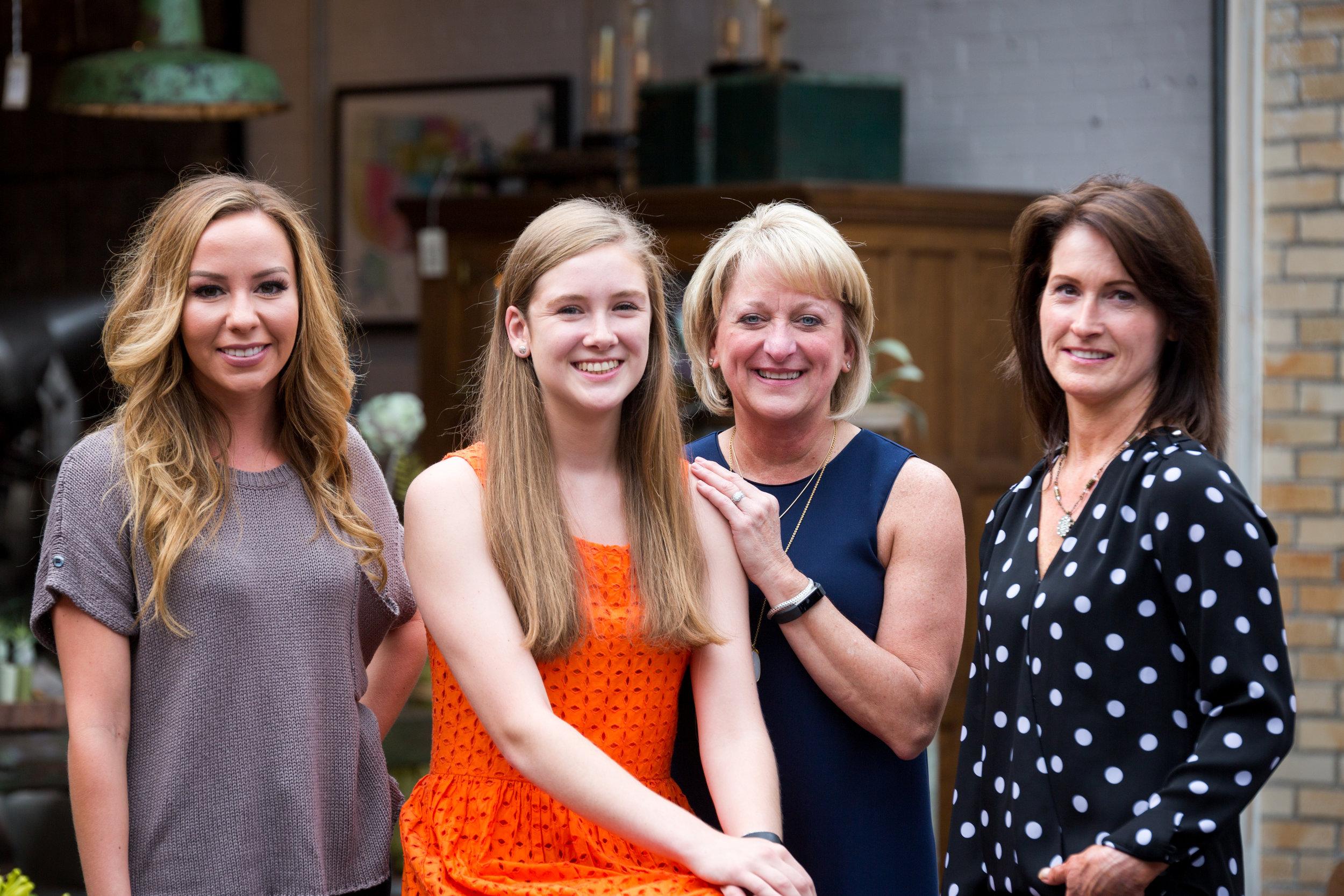 "(Left )Elizabeth ""Liz"" Hernandez - Sales Associate , Allison Mellor - Sales Associate, Sheri ""Sherbear"" Dillon - Sales Associate, Christina ""Christine"" Stonefield - Sales Associate"