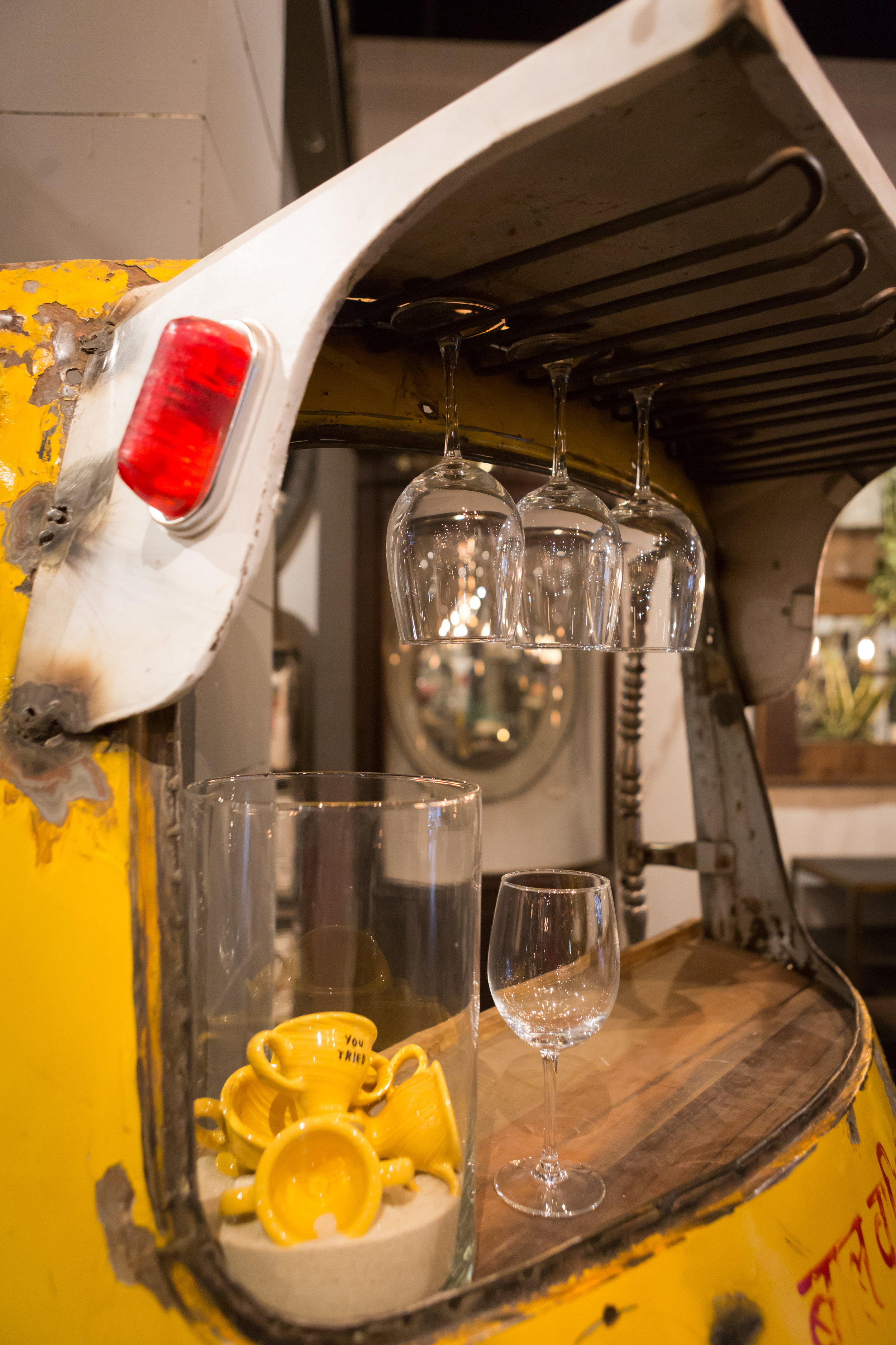 """Tuk-Tuk Bar 75"""" x 27"""" Current Price, $945.00 Available at our Easton elm & IRON location."""