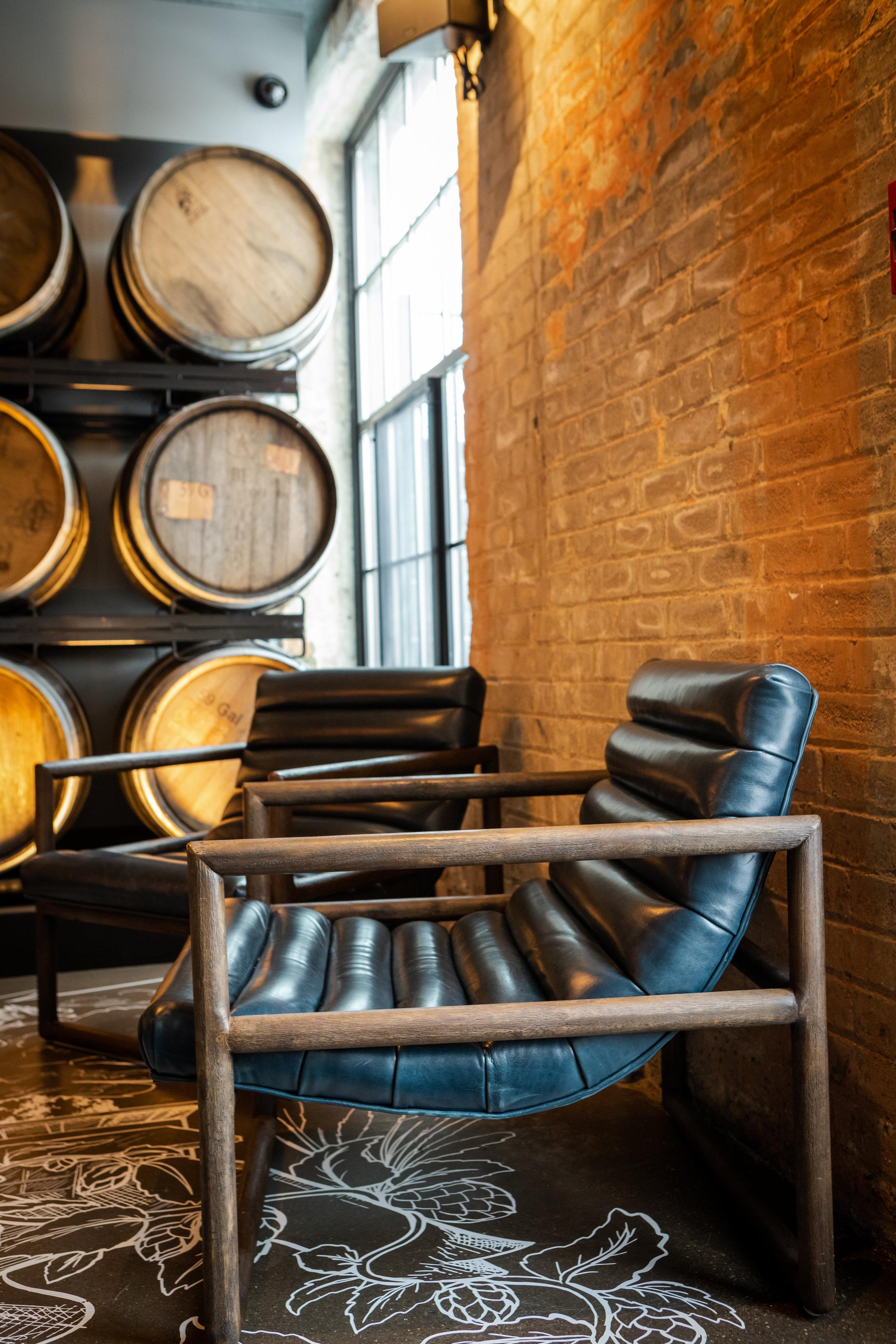 Fitz Chair  - shown in Dakota Sapphire. Also available in Gaucho Chalk & Axis Silver.
