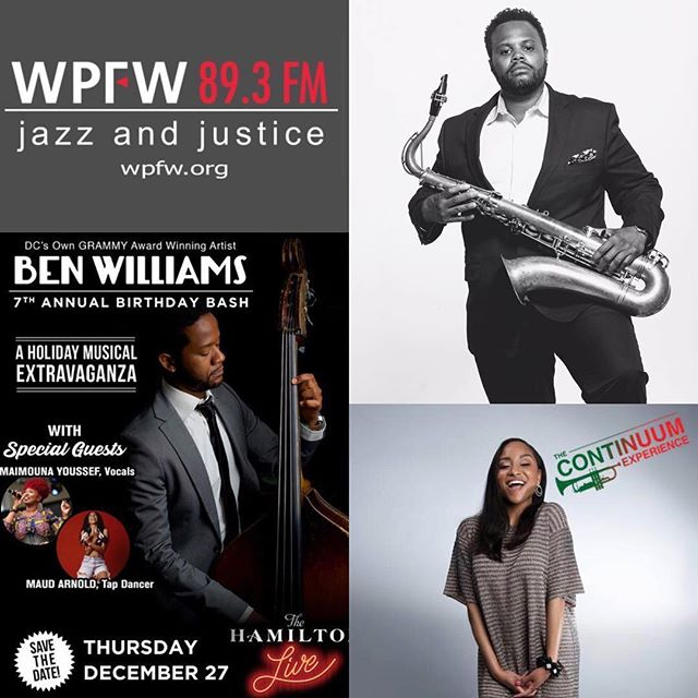 Repost via @jazzygirlrockin - w/ @repostwhiz app: Happy Friday!! Tune into #TheContinuumExperience tonight from 10p until midnight on @wpfwdc! I'll chat with @benwmsonbass on his upcoming birthday concert, and @bjonsax on how his music has taken him across the globe! Listen online at www.wpfwfm.org. - . . . #BenWilliams #BJSimmons #womenonair #womeninmedia #womeninjazz #womeninradio #radiochick #wpfw893fm #jazzandjustice