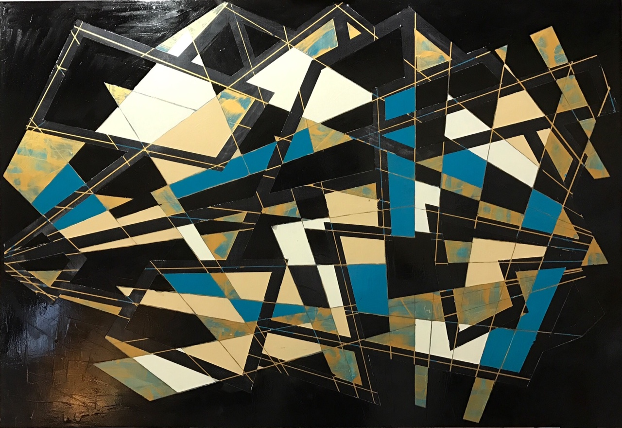"""Dystopia"" Acrylic and enamel on plywood panel; 115x80cm"