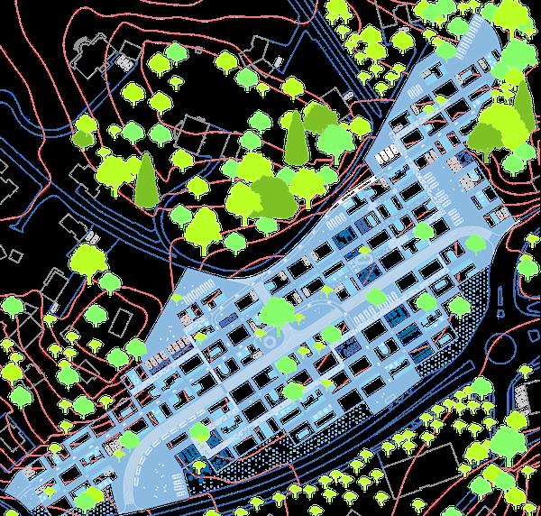 CREATION D'UN QUARTIER MULTI USAGE DE   2,5 ha  -  Concours Europan 10    Lieu  Montreux, 1820 Suisse  Date  2009  Mission  Etude de stratégie urbaine, projet d'aménagement, esquisse architecturale de logements  Equipe projet  FMAU(mandataire), S. de Dreuille  Programme  Inventer l'urbanité, revitalisation, colonisation , création de 116 maisons individuelles, 6 commerces, et 6 bureaux  Surface  2,5 ha  Densité  703 hab / km2  Ratio  46 logements / ha. 50 % surface bâtie, 20% voirie, 30% espaces verts  Maîtrise d'ouvrage  Ville de Montreux  Montant des travaux  45 M CHF HT      Les Grands Prés ne sont pas encore construits. Pourtant tout indique que la ville est déjà là.   «La Suisse entière n'est qu'une grande ville divisée en treize quartiers, dont les uns sont des vallées, d'autres sur les coteaux, d'autres sur les montagnes. Il y a des quartiers plus ou moins peuplés, mais tous le sont assez pour marquer qu'on est toujours dans la ville.» Alain Corboz  Dans un rayon d'un kilomètre, le site est entouré de plusieurs établissements scolaires, un gymnase, une piscine, un stade, un bureau de poste... Il est desservi par un bus toutes les 30 minutes. La gare de Clarens n'est pas loin, l'autoroute non plus. Les Grands Prés sont intégrés d'emblée dans un ensemble diffus de services et d'équipements, un ensemble proprement urbain, couvert par un réseau de mobilités (collectives et individuelles) extrêmement efficace. Les Grands Prés ne dépendent donc pas du centre de Montreux. Ils s'inscrivent autrement. Ils bénéficient de la formidable entreprise d'aménagement qui a fait du territoire Suisse une ville continue. Une ville qui ne révèle que partiellement sa modernité, jamais son ampleur.