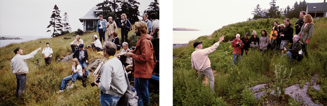 Sam Abell workshops. Monehgan Island, Maine, 1977 and 2013.