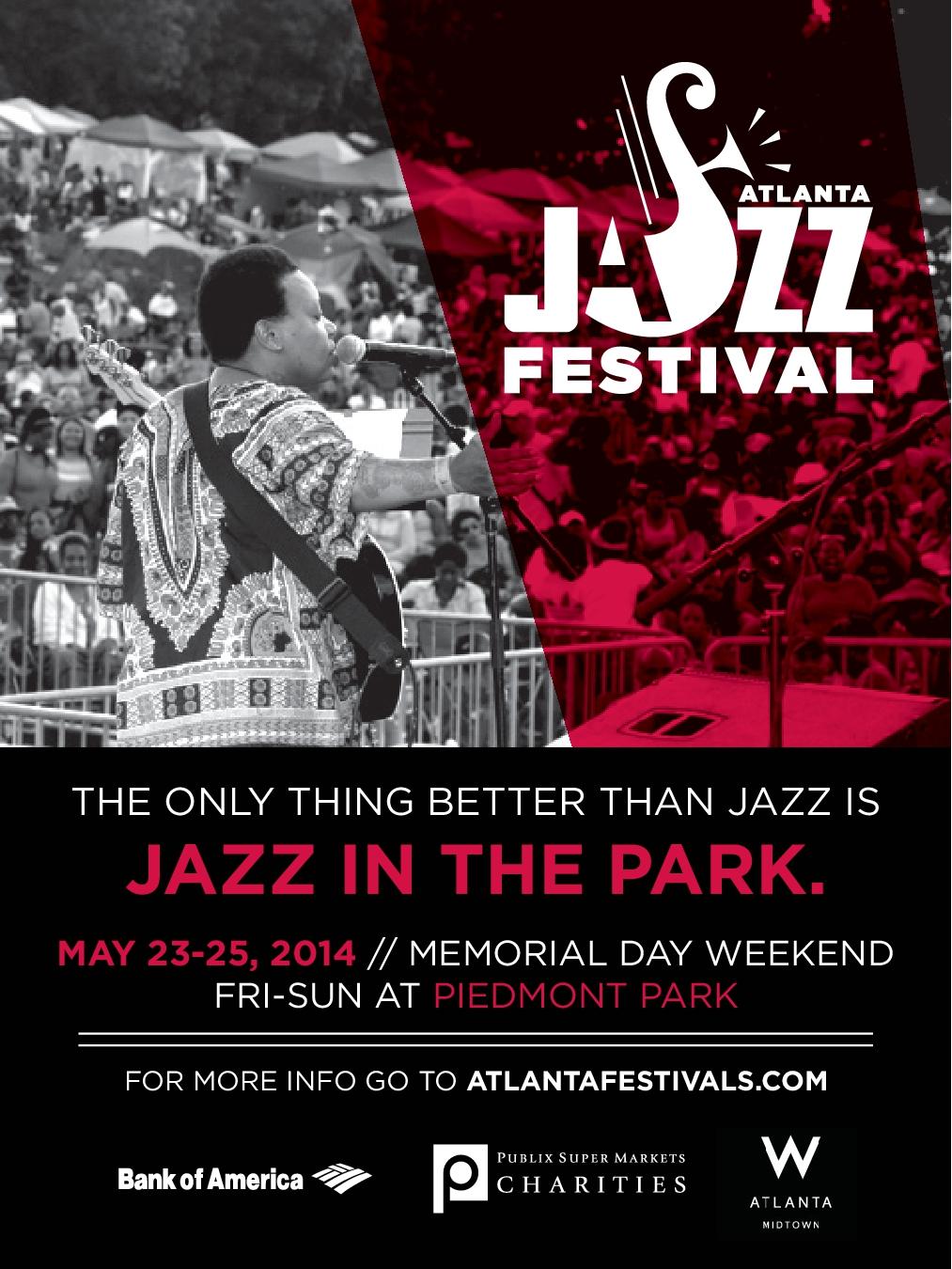 Atlanta Jazz Festival Flyer