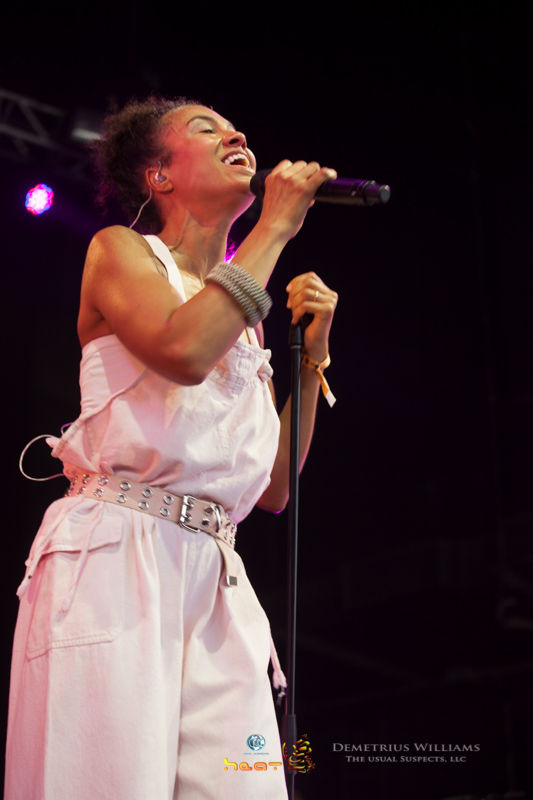 Amel Larrieux performs at ONE Musicfest