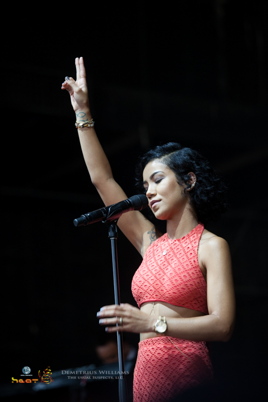 Jhene Aiko performs at ONE Musicfest