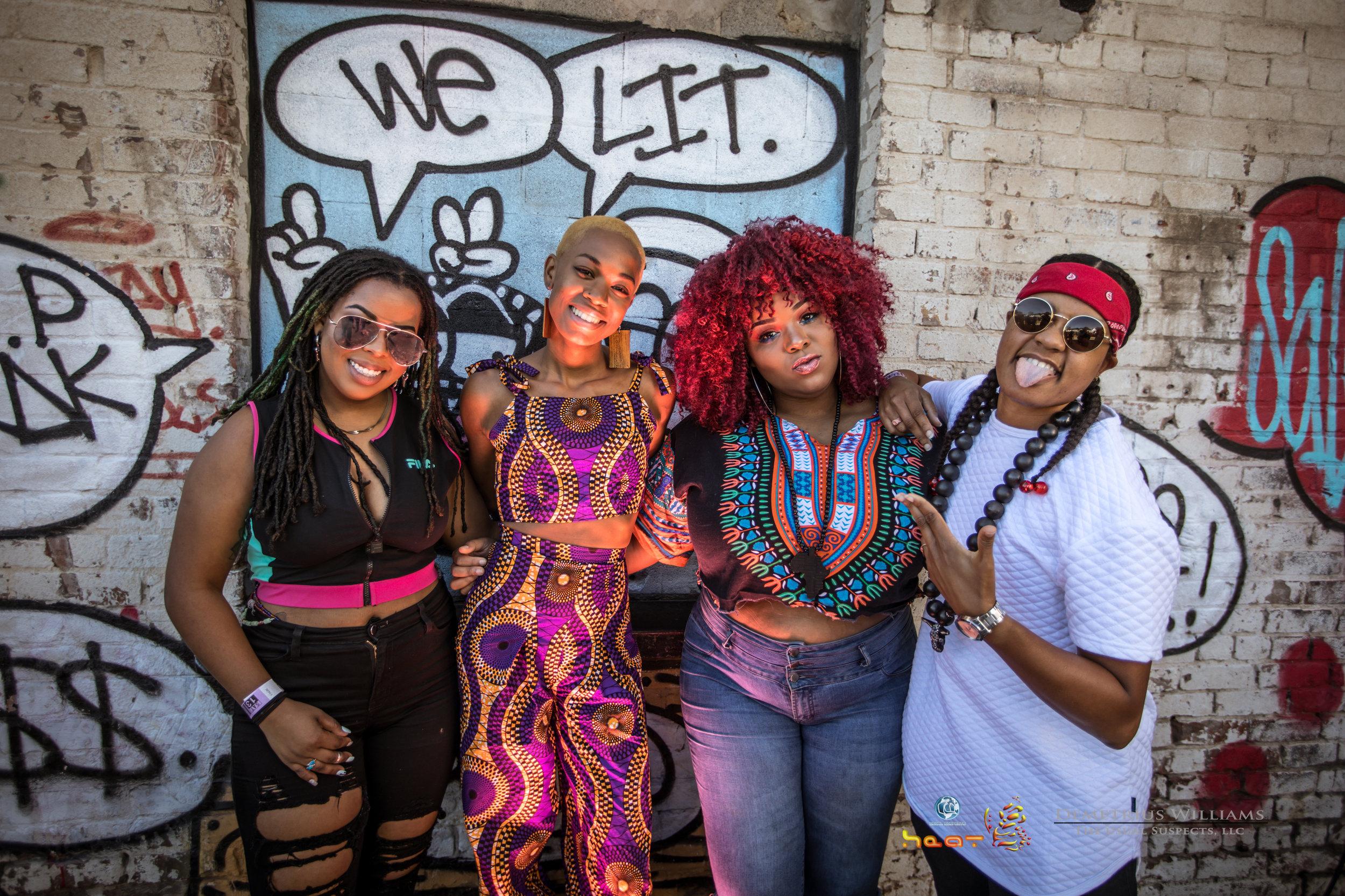The TxLips Band: l to r - Gabriella Logan, Dara Carter, Joela Saintil, Monique Williams