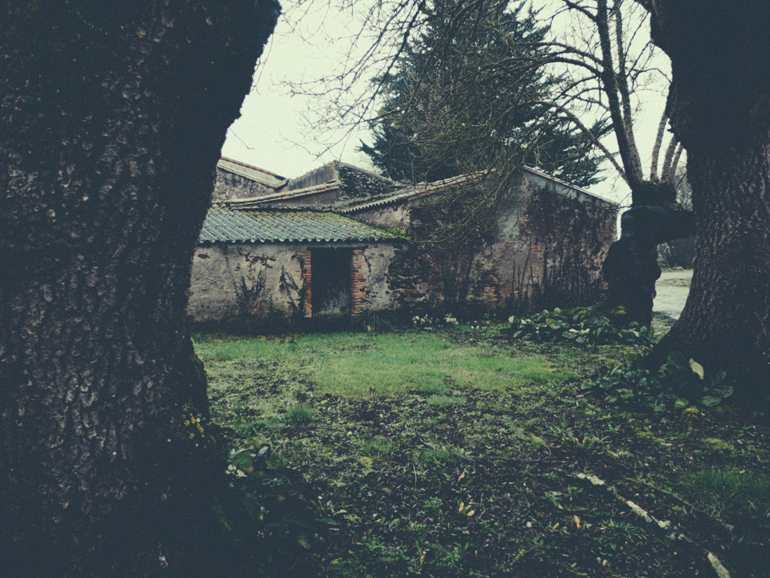 Old buildings on Luneau-Papin Estate