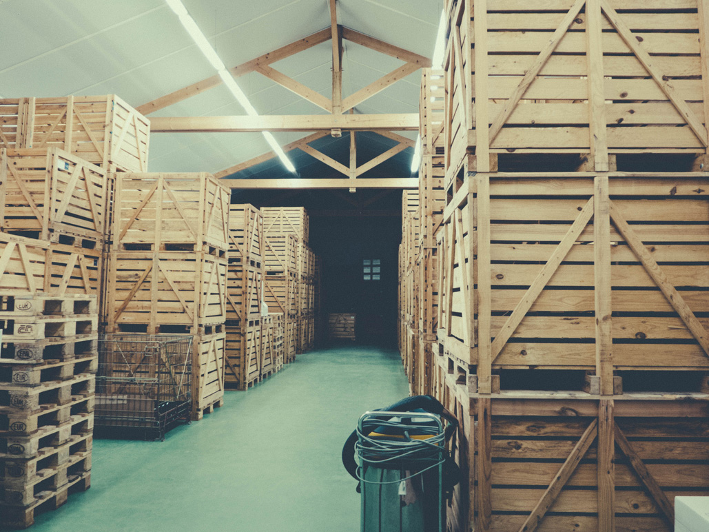 Bottle storage at Luneau-Papin