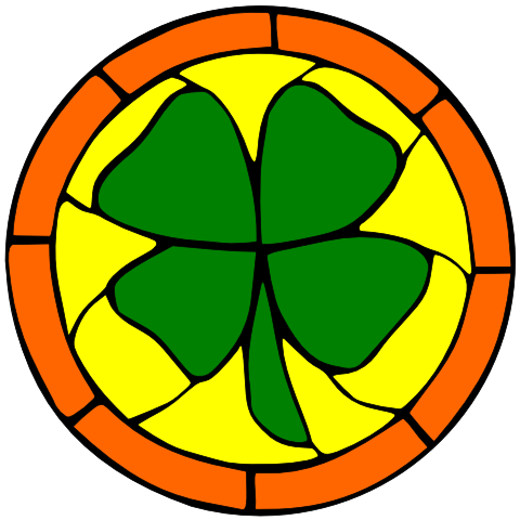 Stained Glass Clover