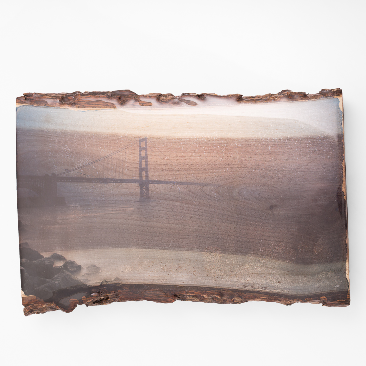 Golden Gate Mist - One of a Kind - Woodprint