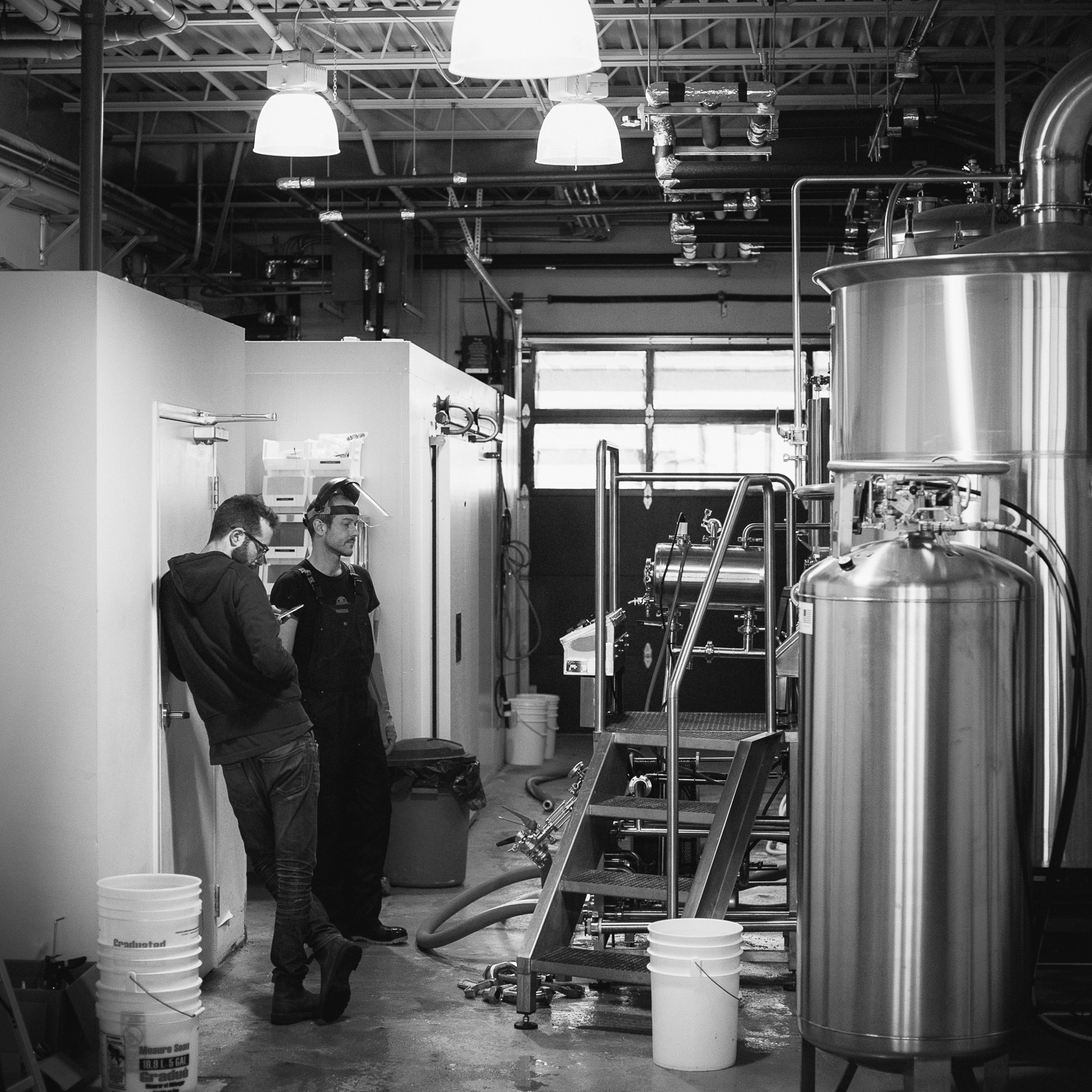 Callum and Eric from Halo Brewery in a brief respite between cleaning tasks.