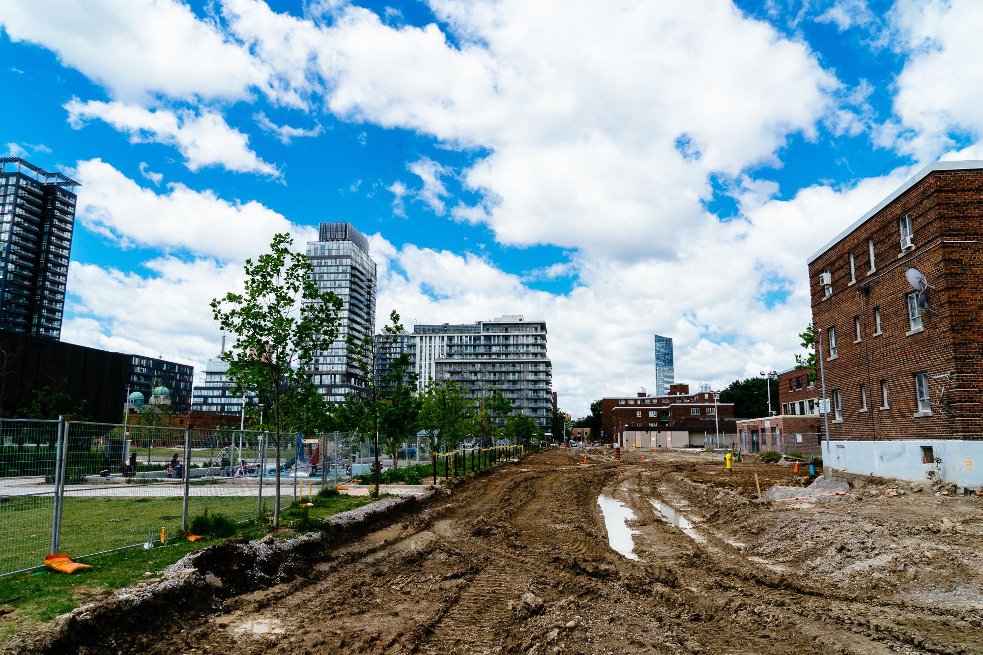 The dividing line of development in Regent Park