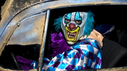 This is not a picture of me. I allowed no pictures of me as a clown to survive.