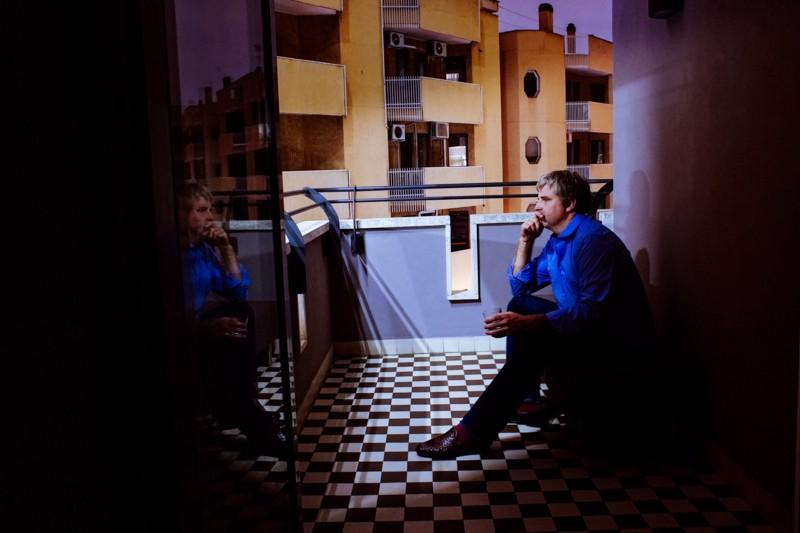"""Hotel Room, Roma. From my self-portrait series,""""Roma per uno""""."""