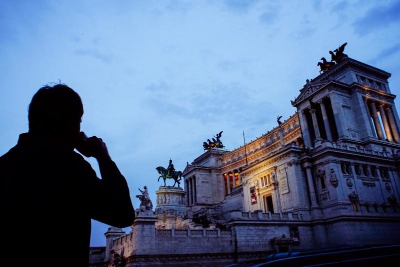 """Altare della Patria, Rome. From my self-portrait series, """"Roma per uno""""."""