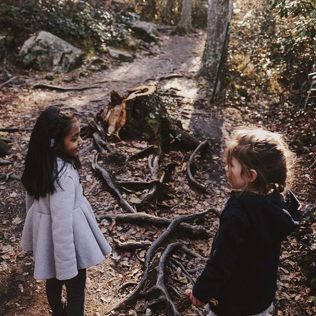 Olive made a new friend on a short hike the other day. A sweet little girl named Kashvi. It started by Olive asking Kashvi if she wanted to play with the dolls she brought and ended with them hiking back to the parking lot, skipping, holding hands and playing imaginary games. Childhood is beautiful.