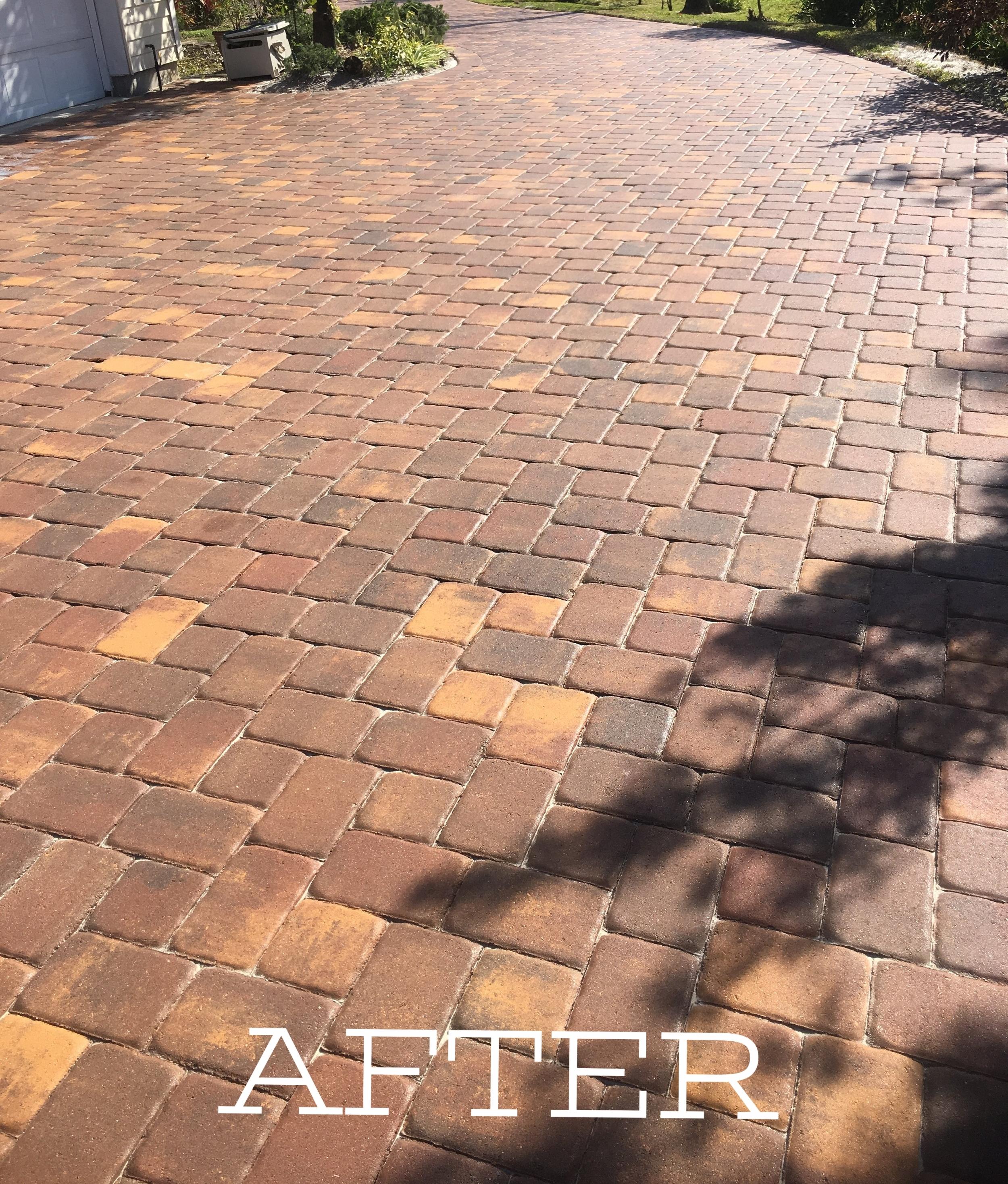 Sealed paver driveway in Melbourne FL