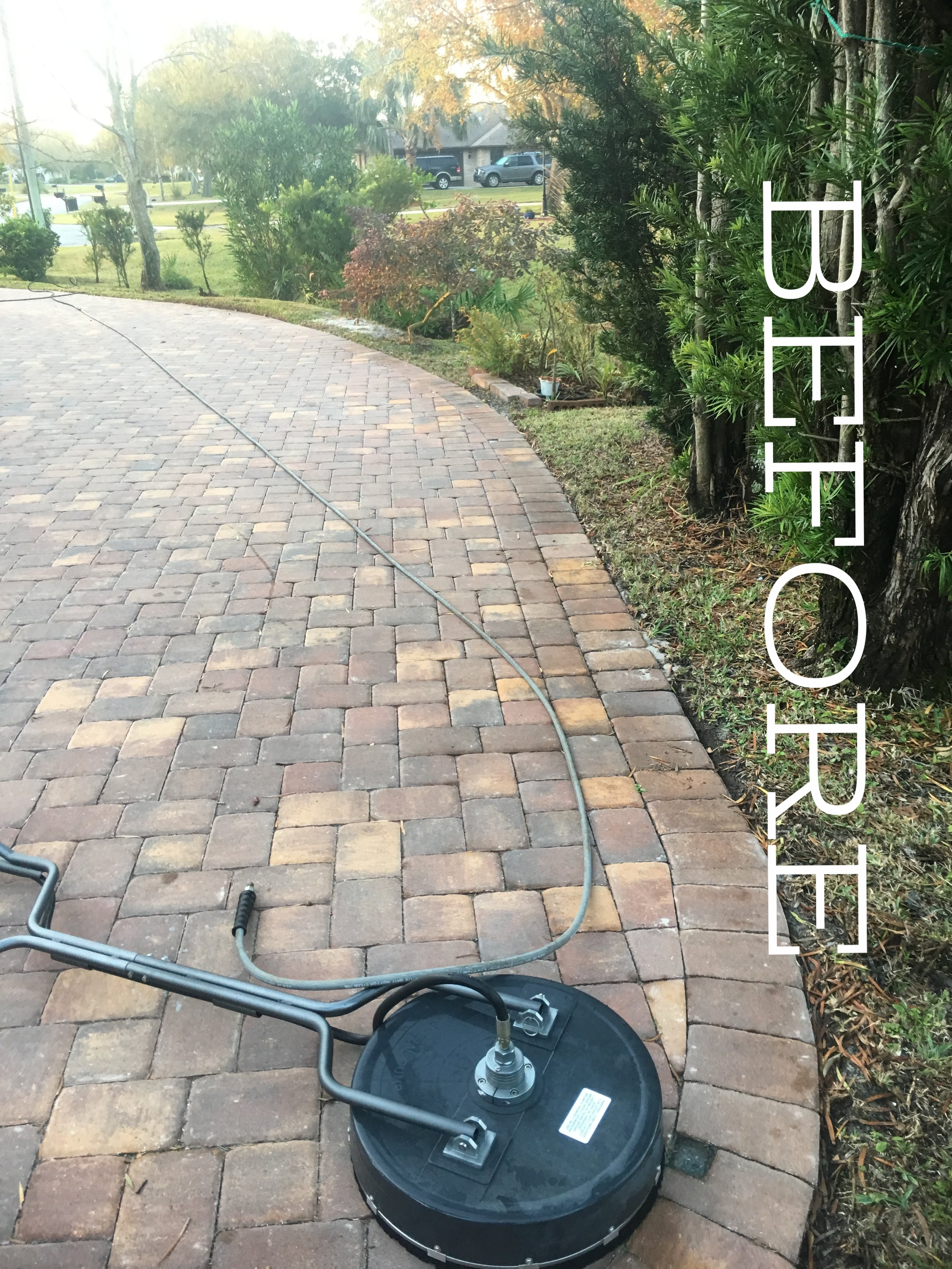 Before Sealing Paver Driveway in Melbourne
