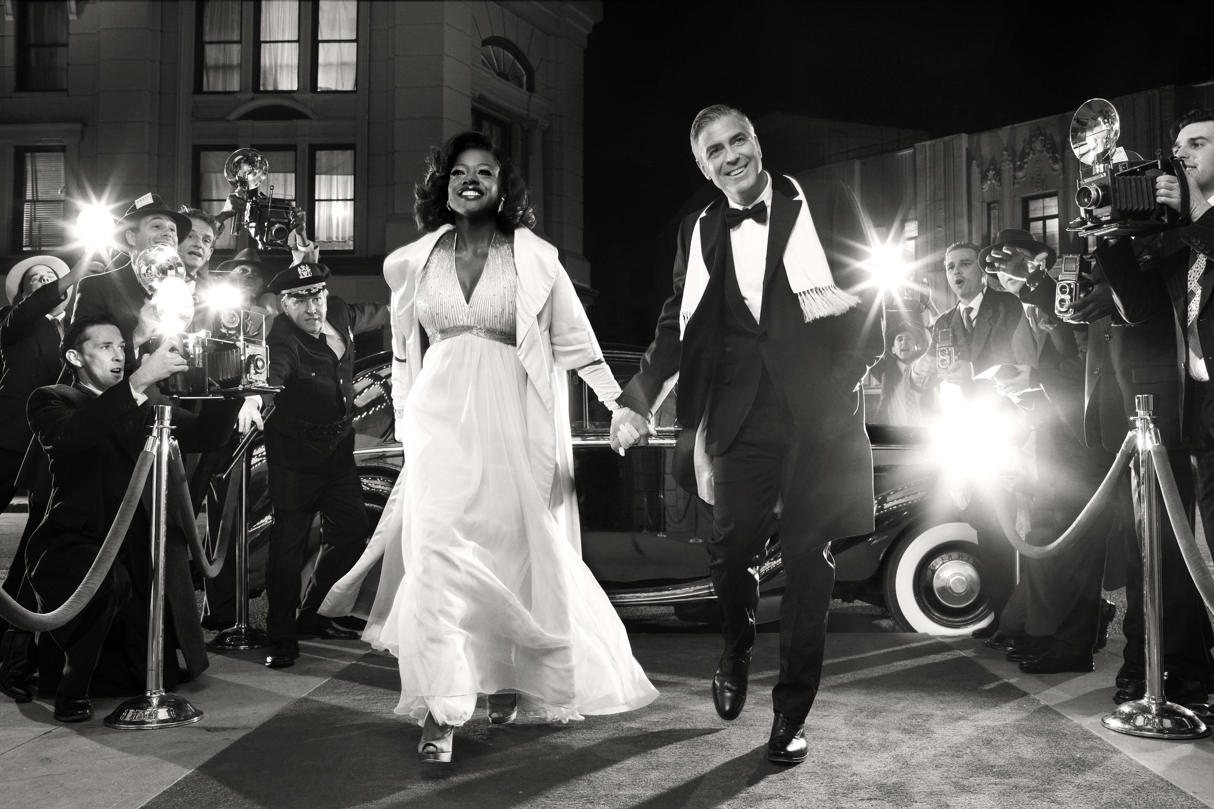 Viola Davis and George Clooney