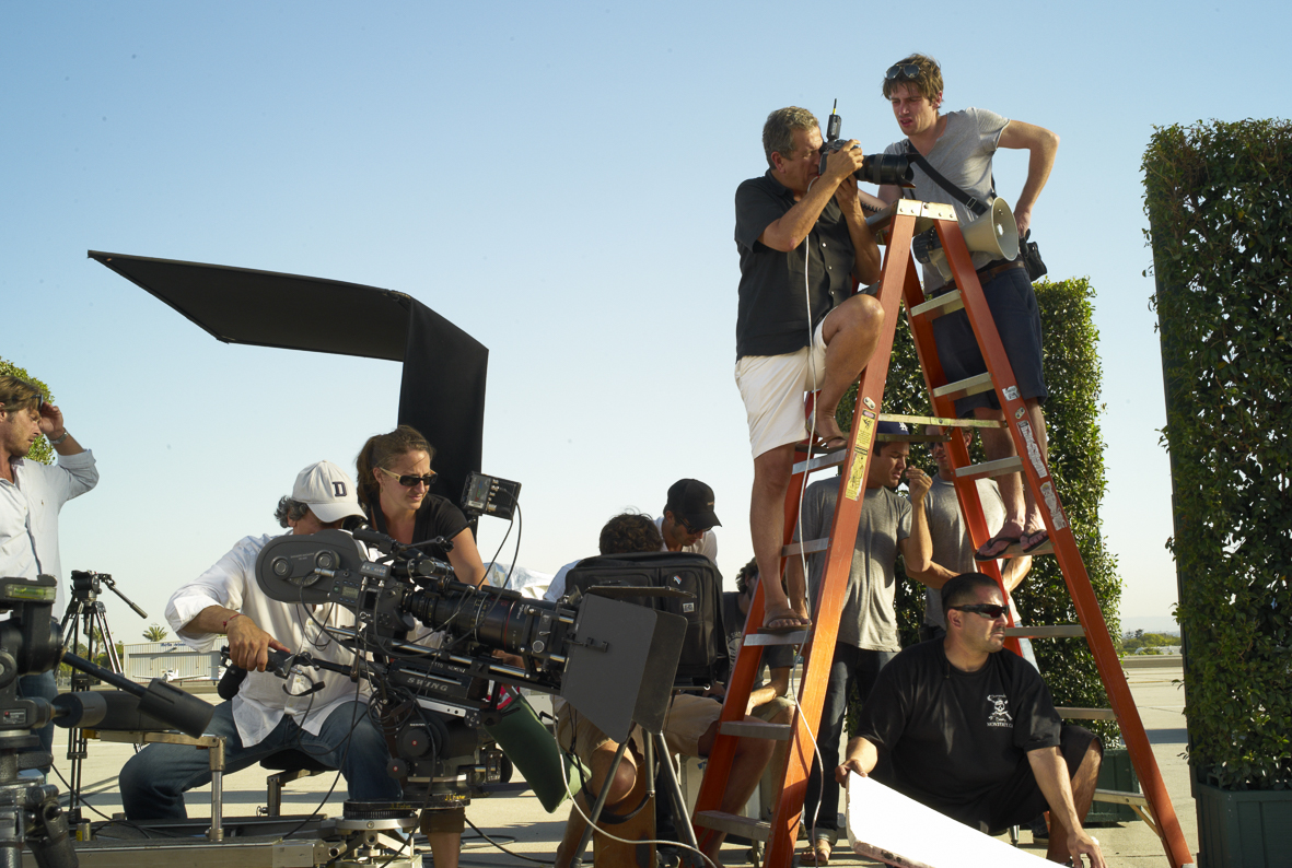 Michael Kors behind the scenes with Carmen Kass