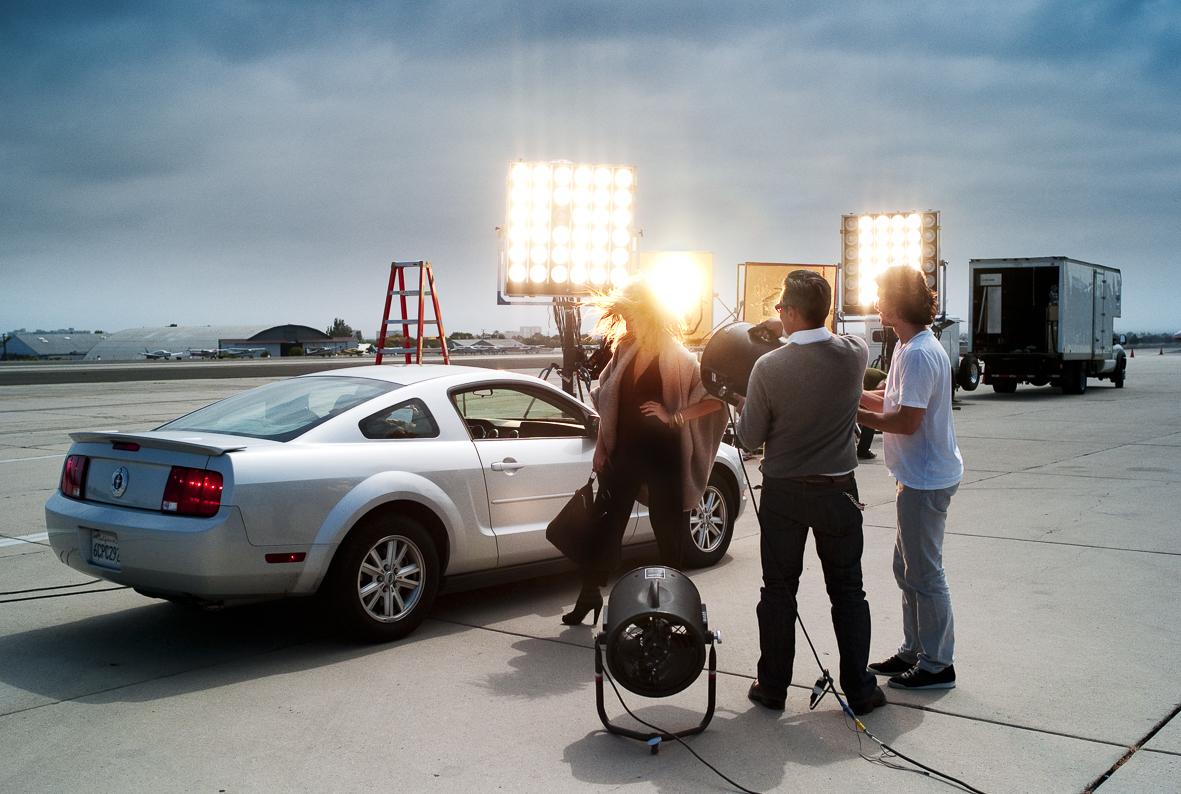 Gisele Bundchen behind the scenes for Stefanel