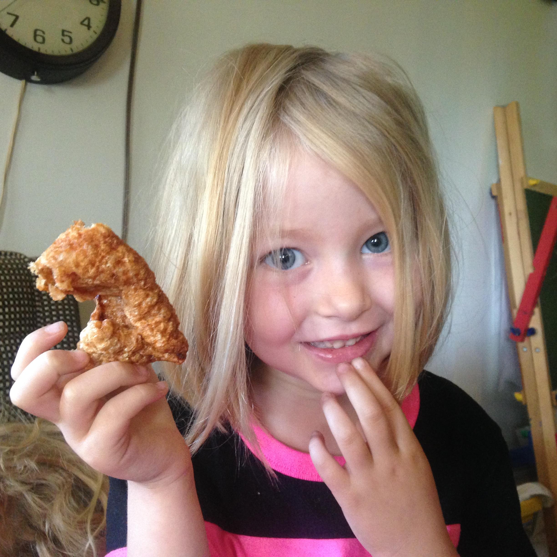 Hands off my pork rind, kid!