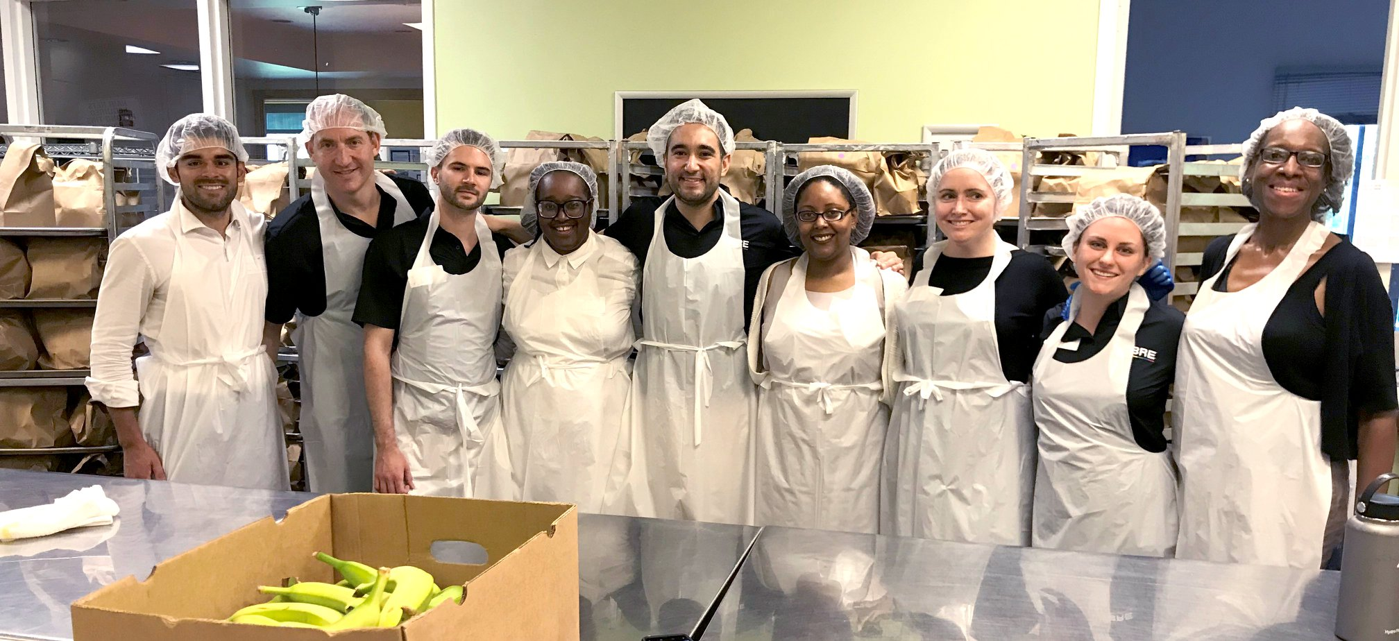 Volunteering with CBRE's LGBTQ & Allies Networking group at  Food & Friends  in Northeast Washington, D.C.