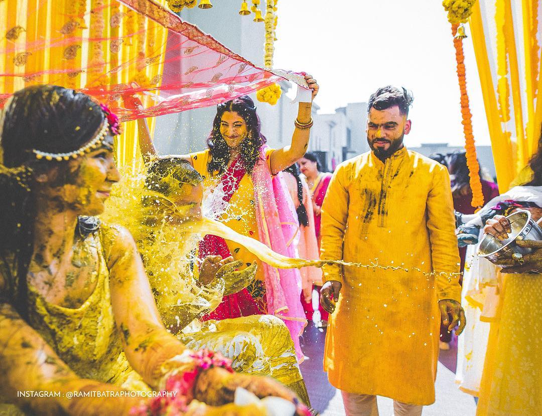 ramitbatraphotography   Haldi Done Right ✨💛 . . 📸 @ramitbatraphotography
