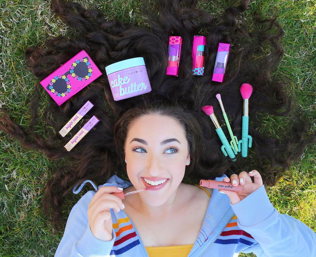 @hashtagzoe  Zoe collaborates with popular brands like Tarte Sugar Rush
