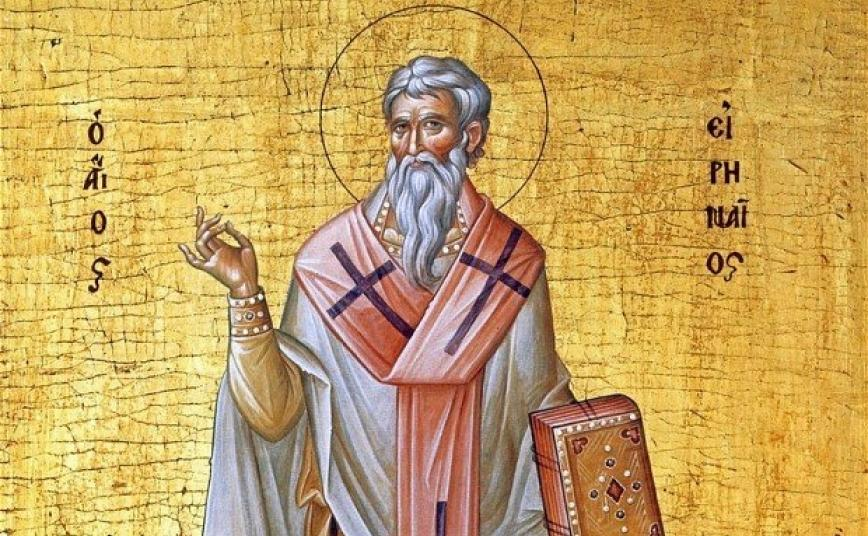 Irenaeus:  Theologian of the early church, bishop of Lyon and artisinal beard sculptor.