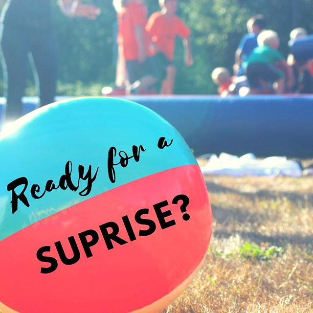 We have a super special secret surprise planned for Wednesday, the 25th, at Kids Camp! You won't want to miss out, so if you haven't already, register now!