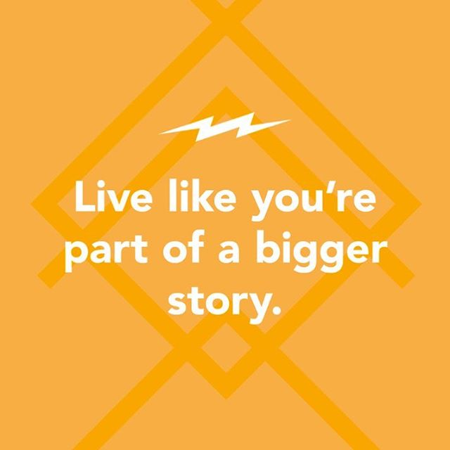 Our last bottom line is about how we're apart of a bigger story- God's story!