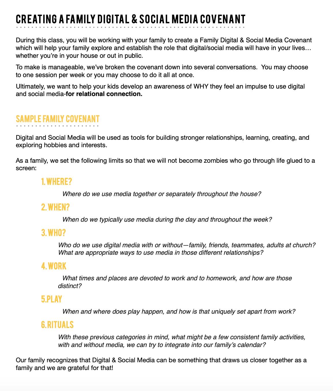 Creating a Digital & Social Media Covenant