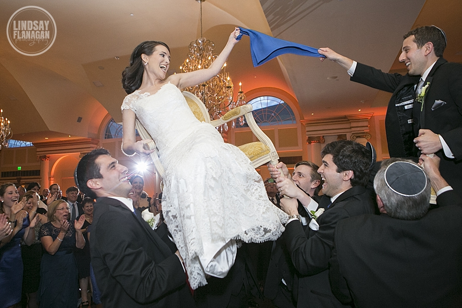 Hora at a Jewish wedding reception at The Riverview in Connecticut