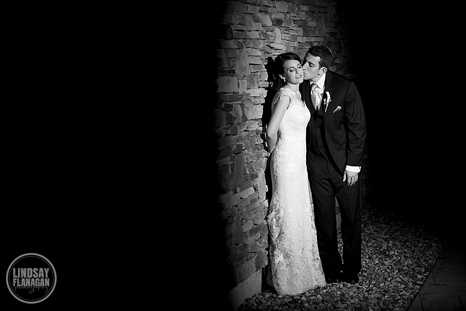 Night portrait of a bride and groom at The Riverview in Connecticut