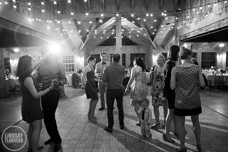 Rockywold Deephaven camp wedding reception dance floor
