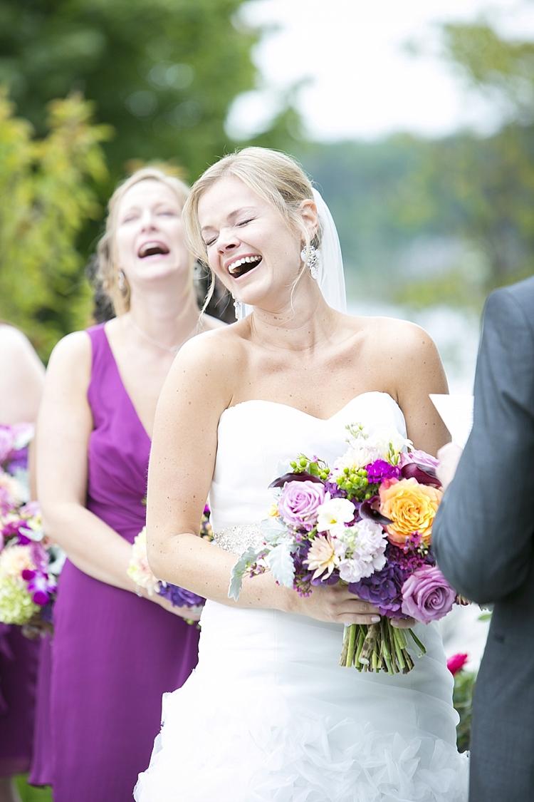 Laughing Bride and Bridesmaid