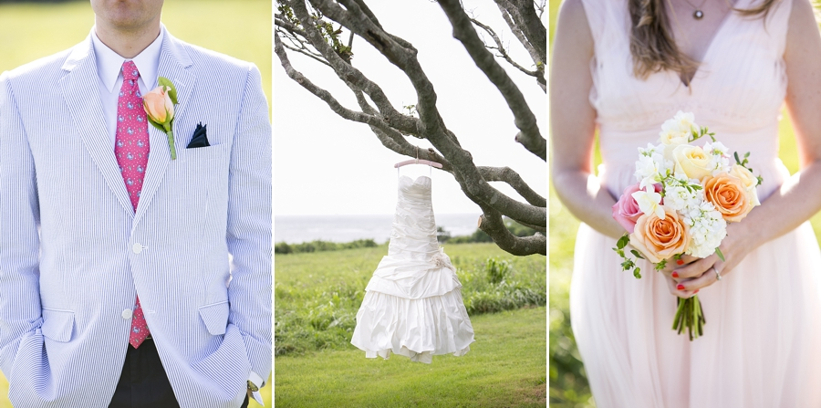 Rhode Island Wedding, Pink, Peach, Beach, Outdoor
