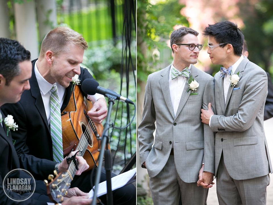 Same Sex Gay Wedding Ceremony Song Grooms Emotion