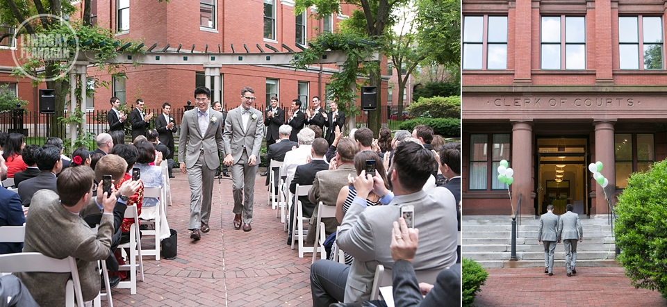 Same Sex Gay Wedding Ceremony Recessional Cambridge