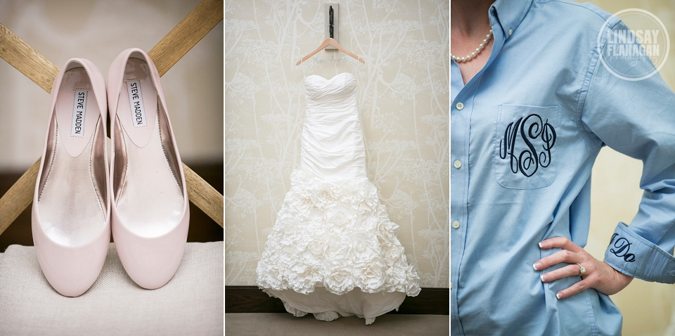 LaBelle Winery Wedding Bride Shoes Dress Details